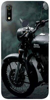 Style Bullet Black Loves Printed Soft Designer Mobile Back Cover for Realme 3