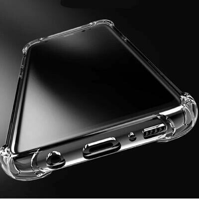 Realme 5 Pro (Bumper Corner Soft Silicon Flexible Shockproof Camera Protection Cushioned Edges Crystal Clear Mobile Cover) - Transparent
