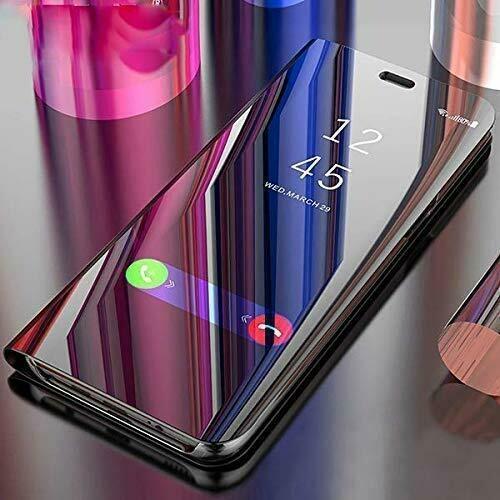 Smart Mirror Flip Cover Case for Realme 5s (Black)