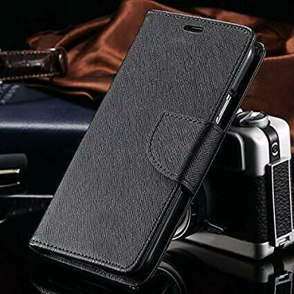 Wallet Style Flip Cover for Xiaomi Redmi 7A (Black)