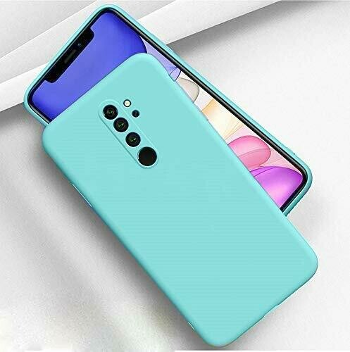 Mobistyle Slim Matte Liquid Silicone Camera ProtectionTPU Shockproof Back Cover Case for Redmi Note 8 Pro