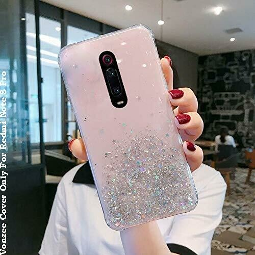 Redmi Note 8 Pro Case Cover Luxury Fashion Glitter Shiny Bling Sparkling Protective Cover for Girls & Women for Redmi Note 8 Pro Pink