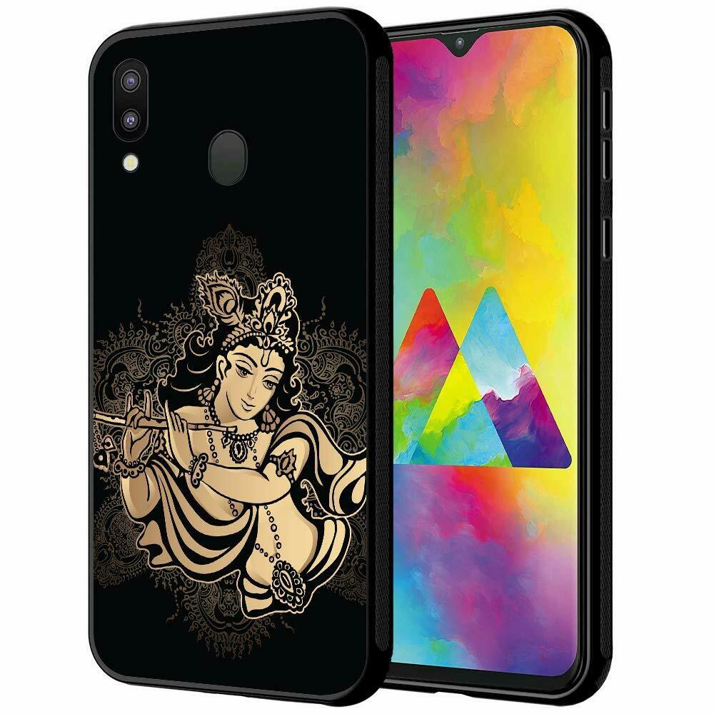 Designer God Krishna Printed Hard Back Case Mobile Cover for Samsung Galaxy M20