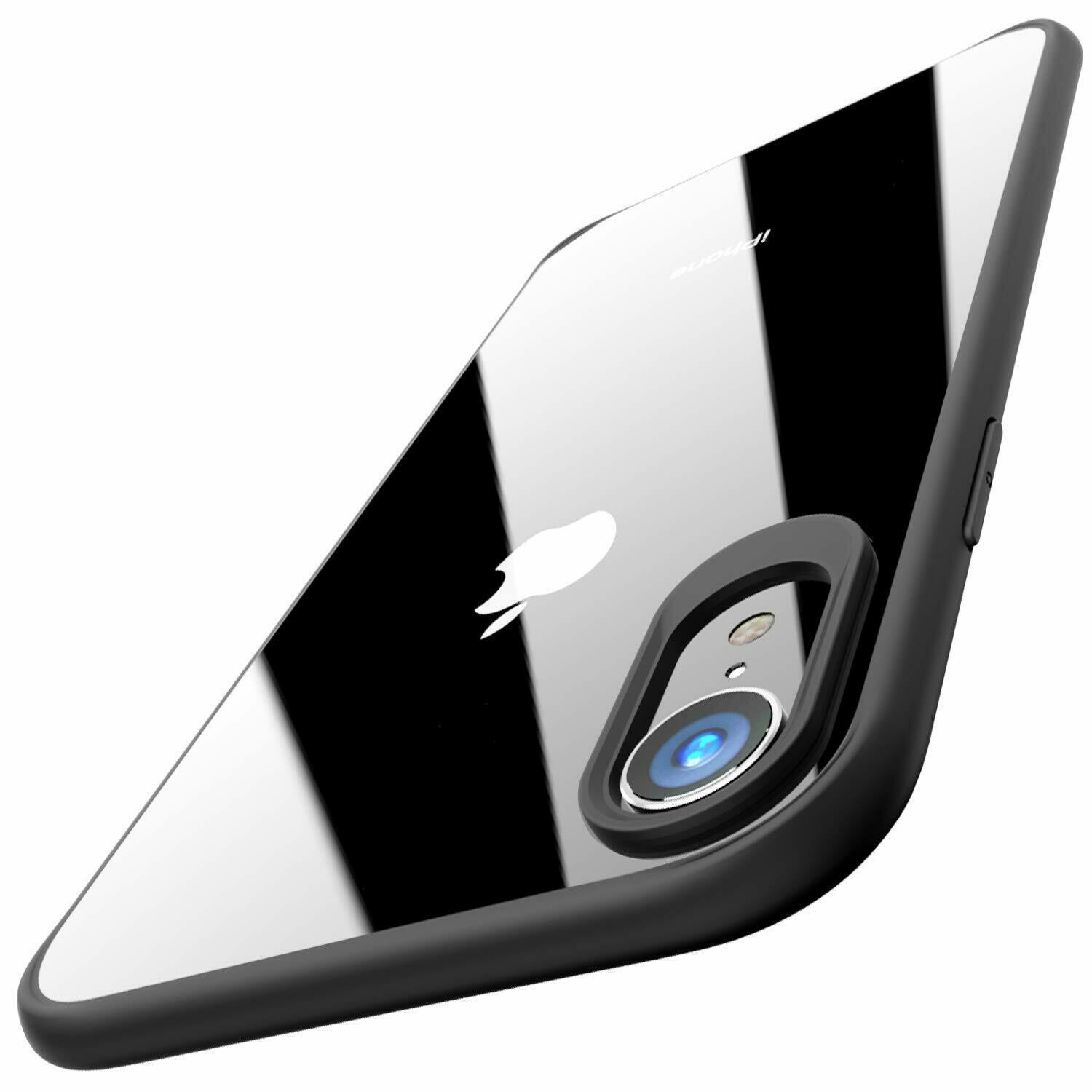 Back Camera Lens Protector Case Cover Compatible for Apple iPhone XR - Black