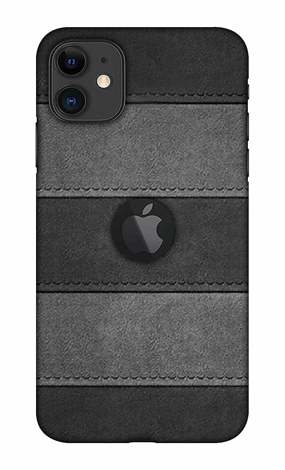Blutec Leather Texture Design Printed Hard Back Case Cover for Apple iPhone 11