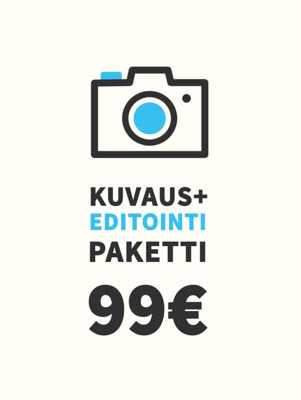 Kuvaus + Editointi -paketti