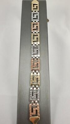 Bracelet en or 3 couleurs.