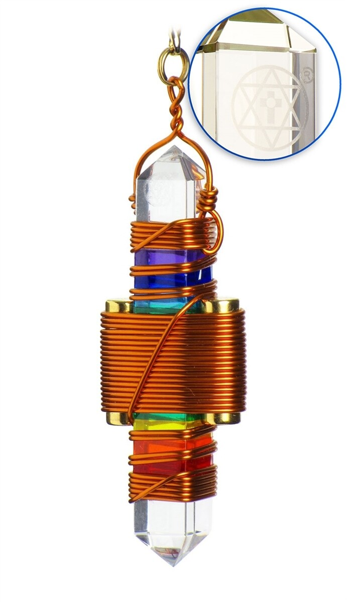"Buddha Maitreya the Christ 2.5"" Etheric Weaver in Copper - Rainbow Gel"