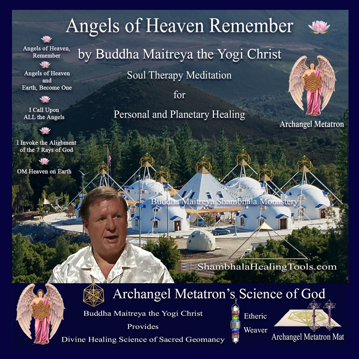 Angels of Heaven Remember - Buddha Maitreya the Yogi Christ Soul Therapy Meditation - CD