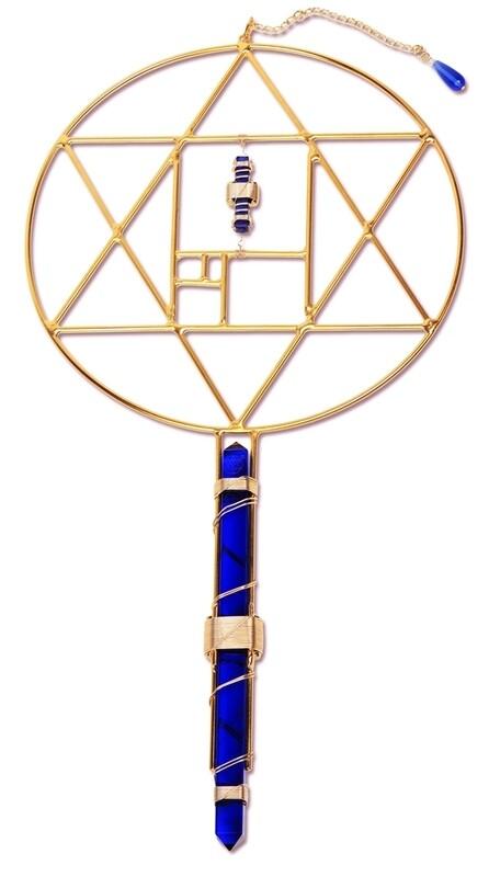 Buddha Maitreya the Christ Dharma Etheric Weaver Wand - Blue Siberian Quartz