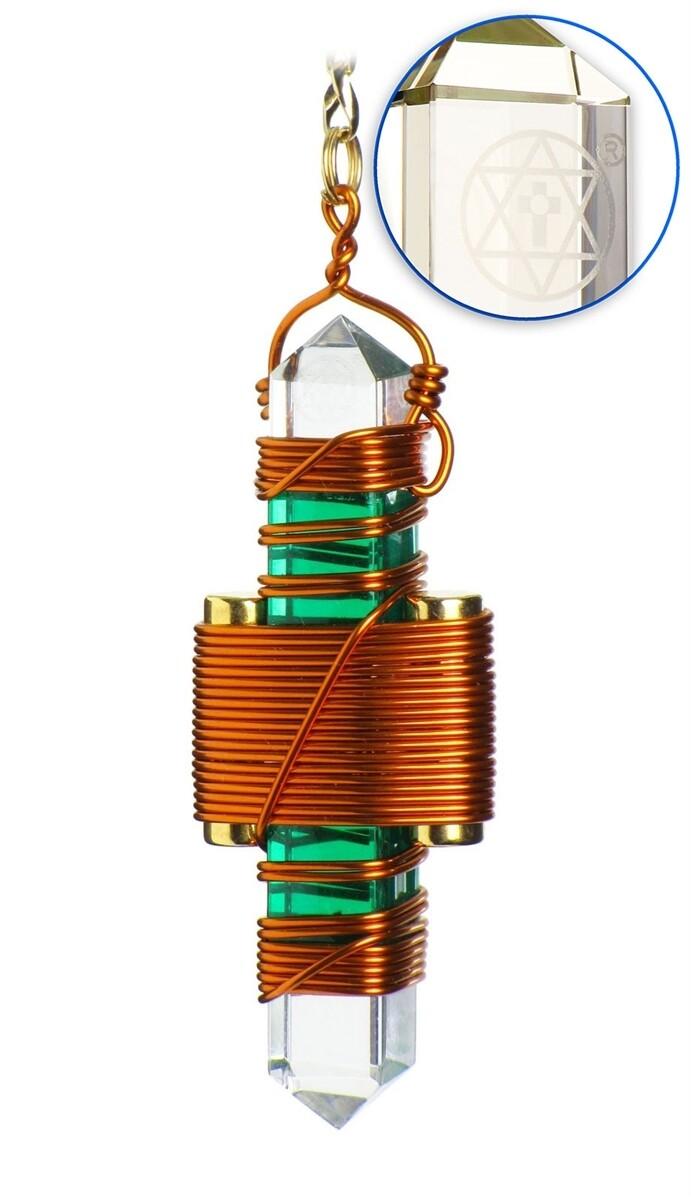 "Buddha Maitreya the Christ 2.5"" Etheric Weaver in Copper - Green Gel"