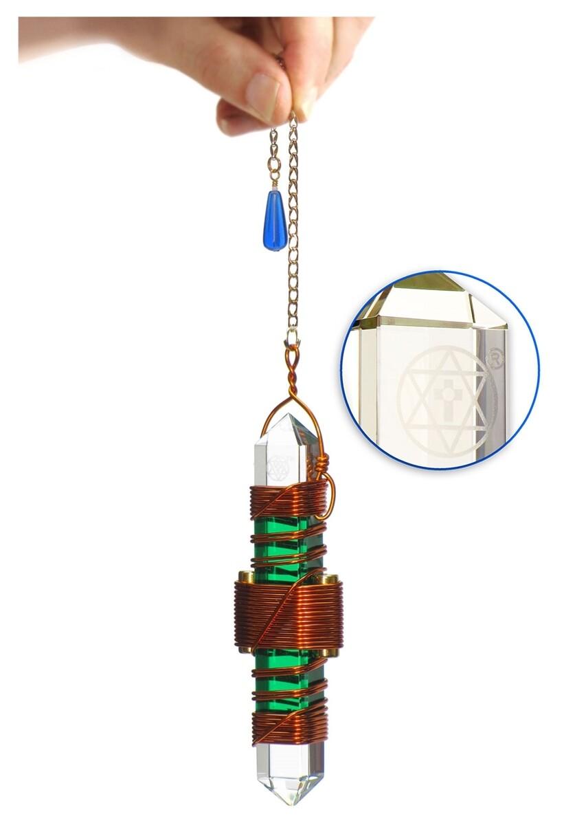 "Buddha Maitreya the Christ 3.5"" Etheric Weaver in Copper - Green Gel"
