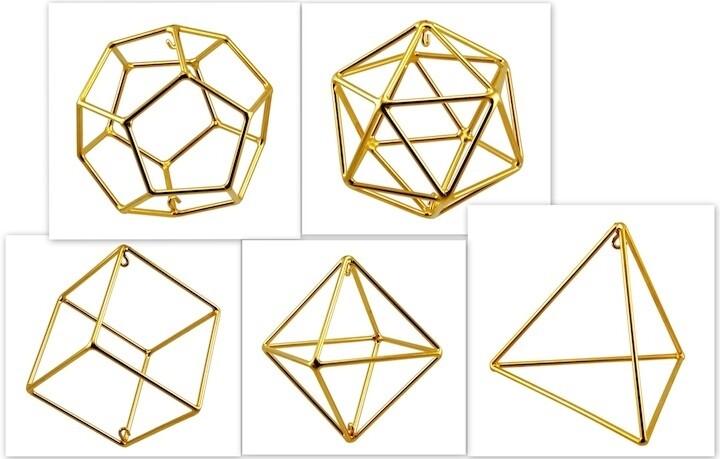 Set of Platonic Solids - Large