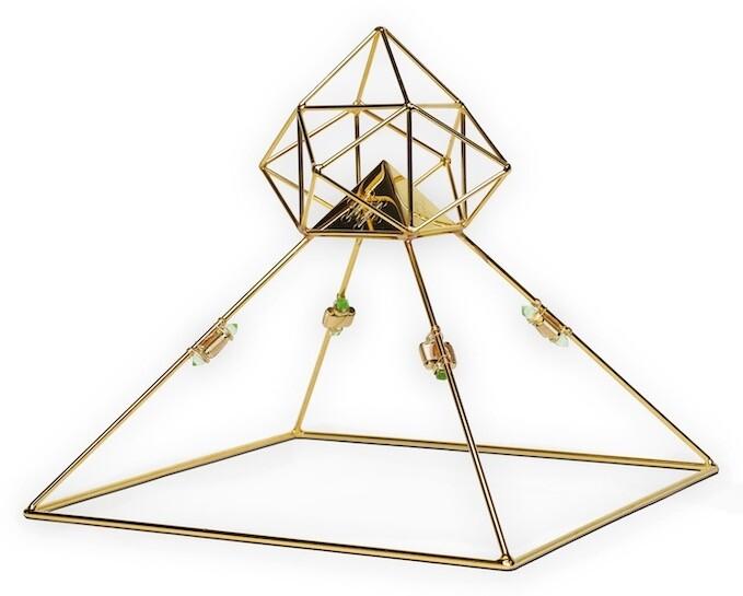 Buddha Maitreya the Christ Solar Ascension Head Pyramid with Etheric Weavers