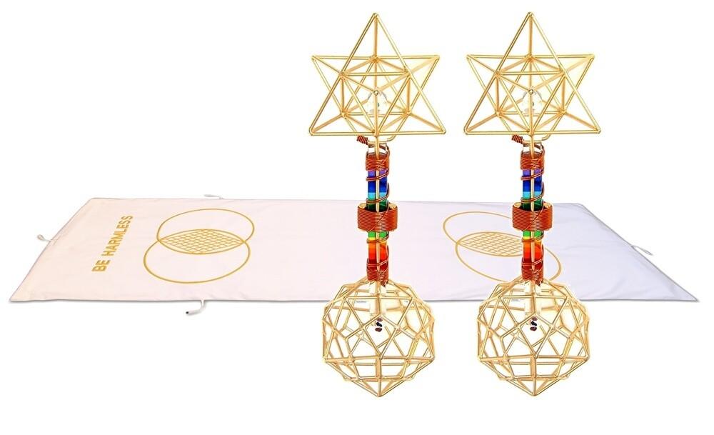 Buddha Maitreya the Christ Metatron Mat System with Christ Consciousness Earth Vajras - full-length