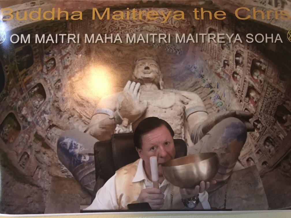 Buddha Maitreya OM Mantra - Poster Print