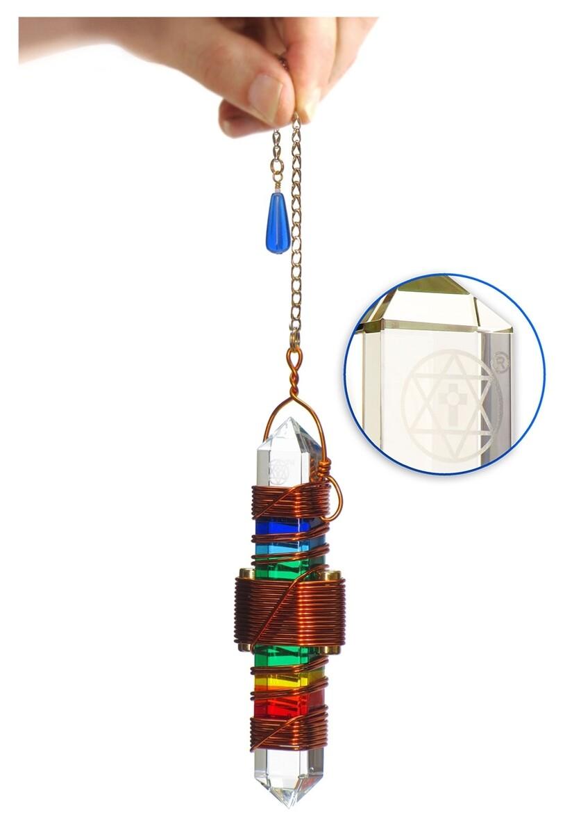"Buddha Maitreya the Christ 3.5"" Etheric Weaver in Copper - Rainbow Gel"