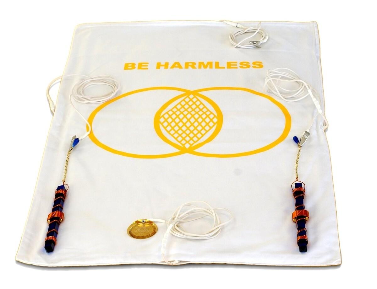 "Buddha Maitreya the Christ Metatron Mat System with 7"" Etheric Weavers - half-length"