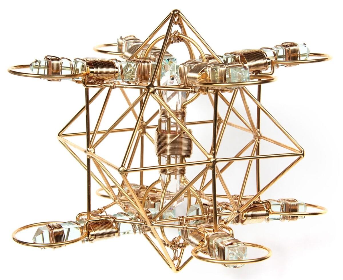 Buddha Maitreya the Christ - Medium Maitreya Solar Cross - 12k Gold-fill Wire