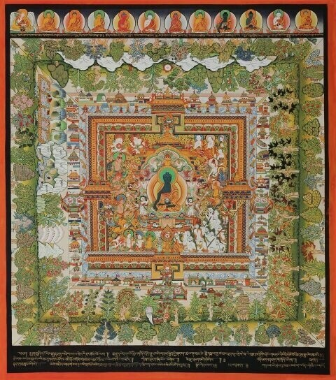 The Paradise of the Medicine Buddha - Poster Print