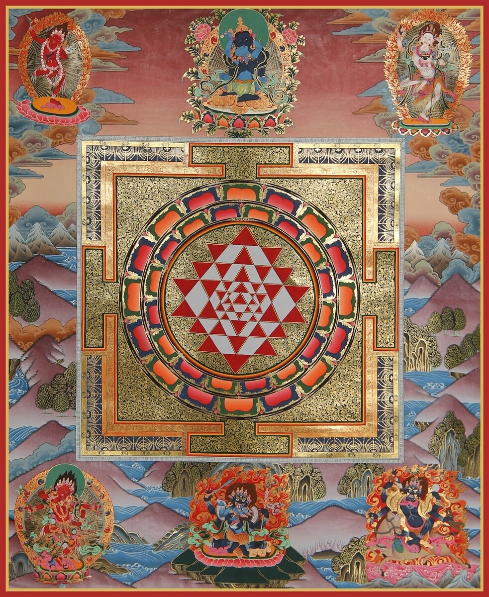 Sri Yantra Mandala - Poster Print