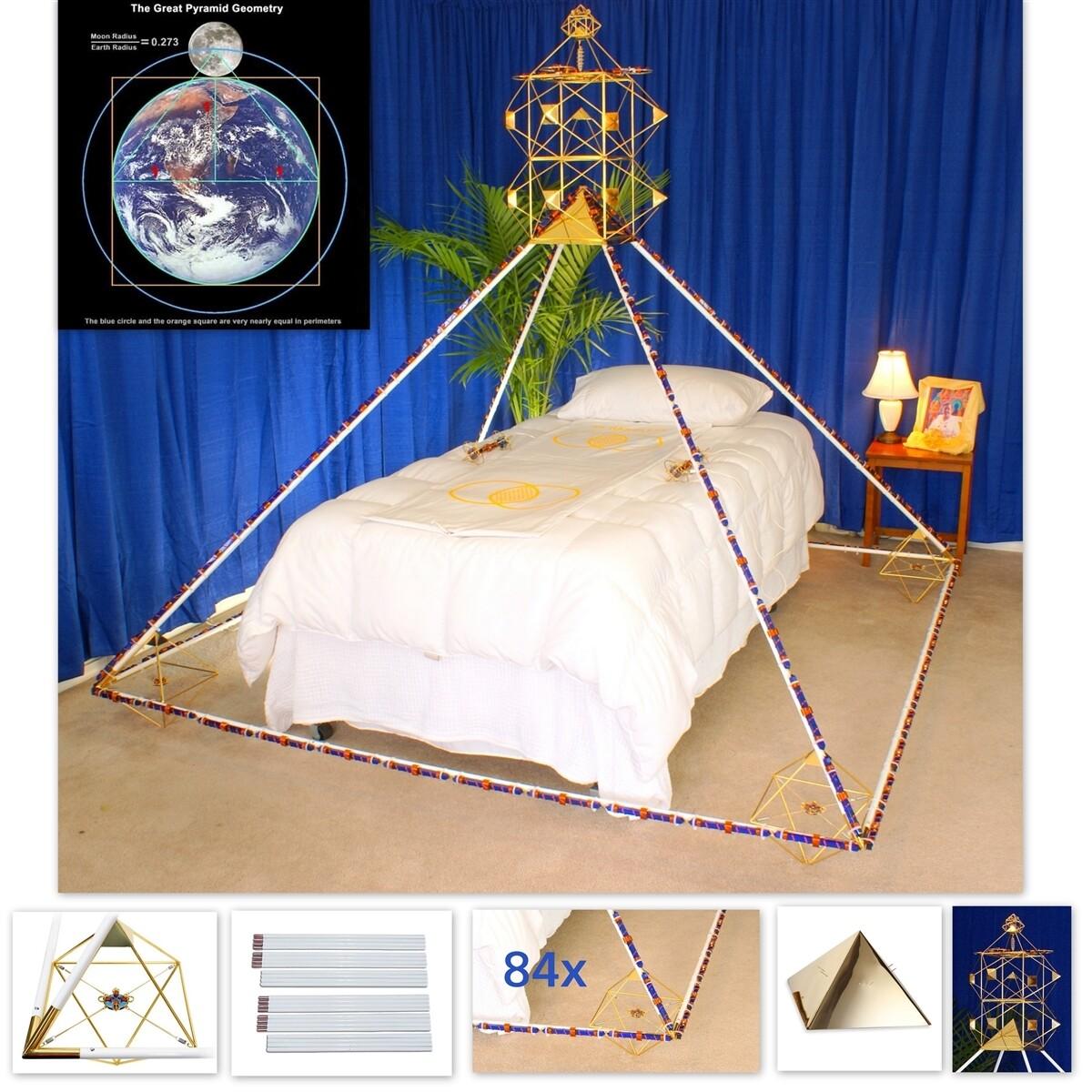 7ft Buddha Maitreya the Christ Full Crystal Solar Cross Ascension Meditation Pyramid System - Gold