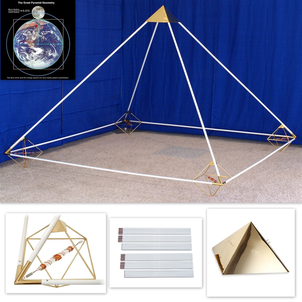 7ft Buddha Maitreya the Christ Meditation Pyramid System - Etheric Weaver Octahedrons