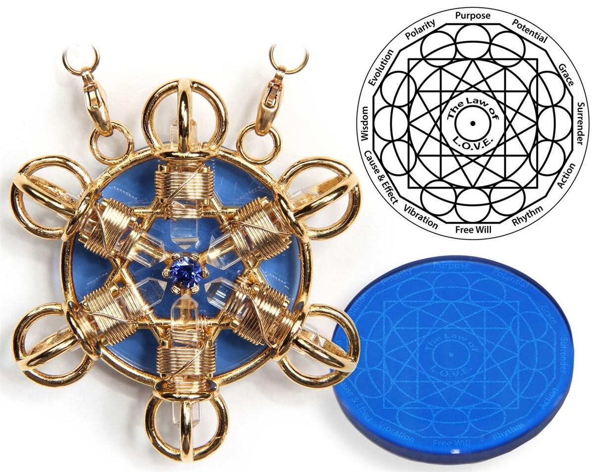 Buddha Maitreya the Christ 24K Gold-plated Shambhala Star with 12K Gold-fill wire