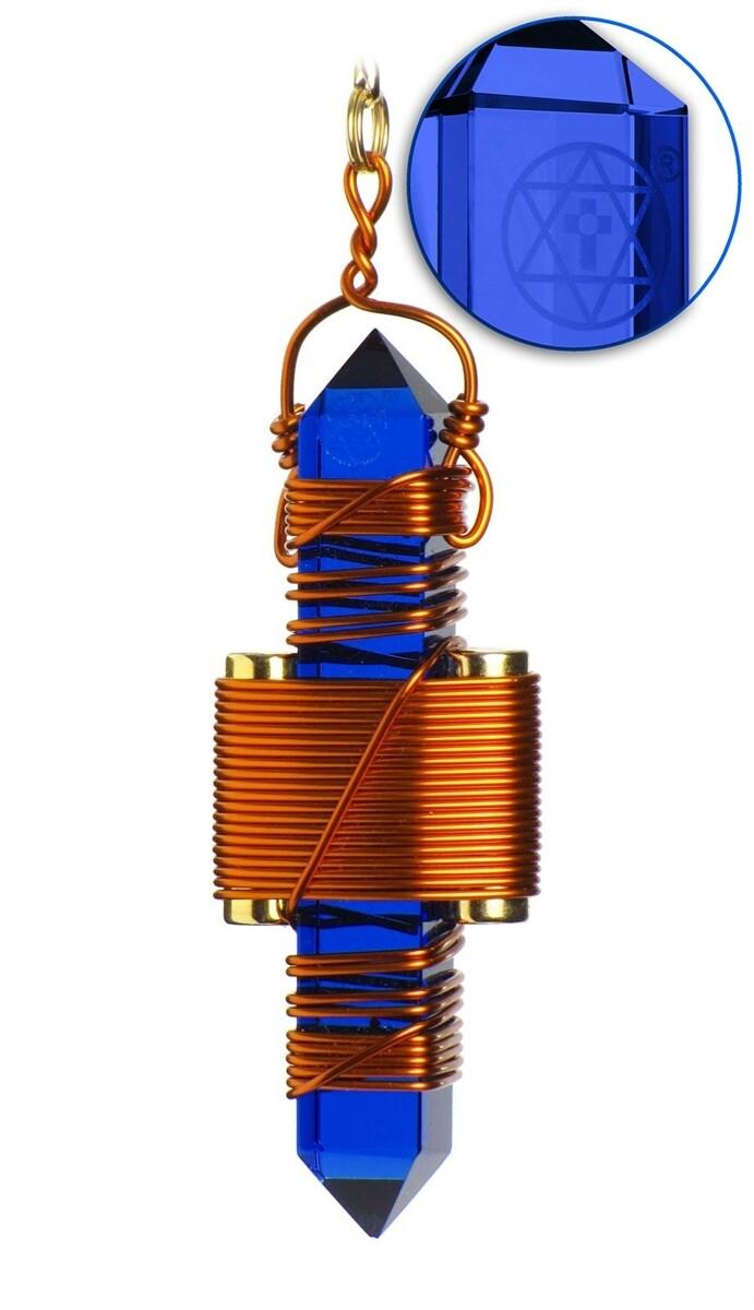 "Buddha Maitreya the Christ 2.5"" Etheric Weaver in Copper - Blue Siberian Quartz"