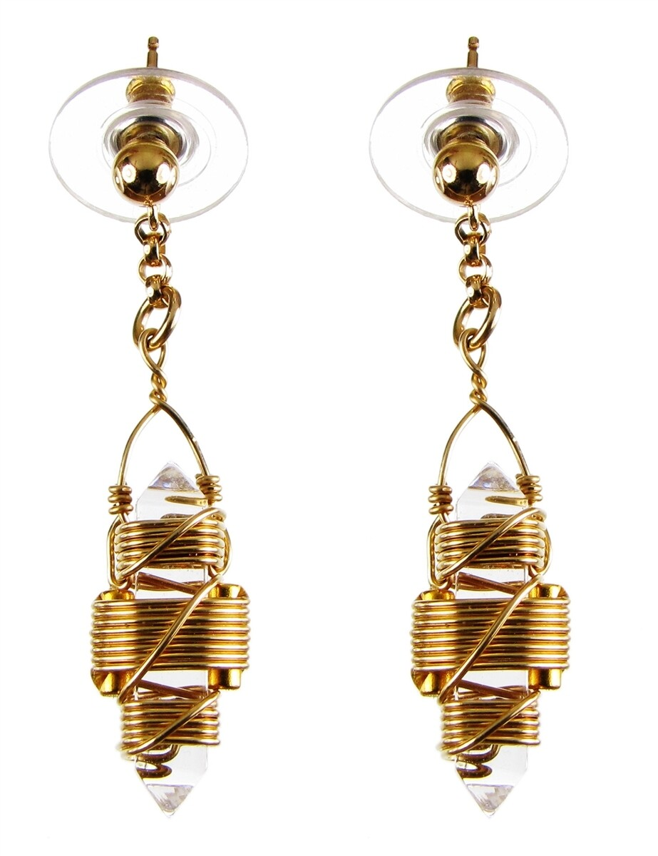 "Buddha Maitreya the Christ 7/8"" Etheric Weaver Earrings -Gold"