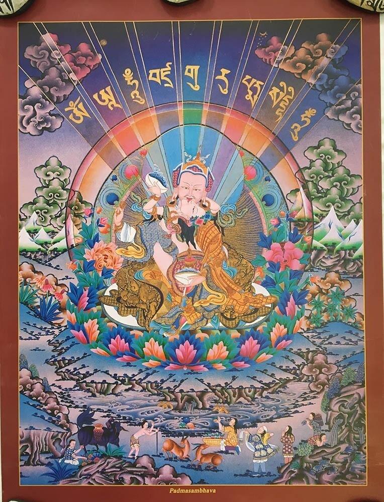 Rainbow Padmasambhava - Poster Print
