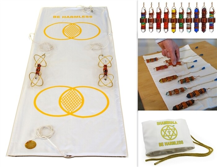 Practitioner Set - includes 10 Set of Etheric Weavers in Copper & Metatron Mat System with Sky Vajras