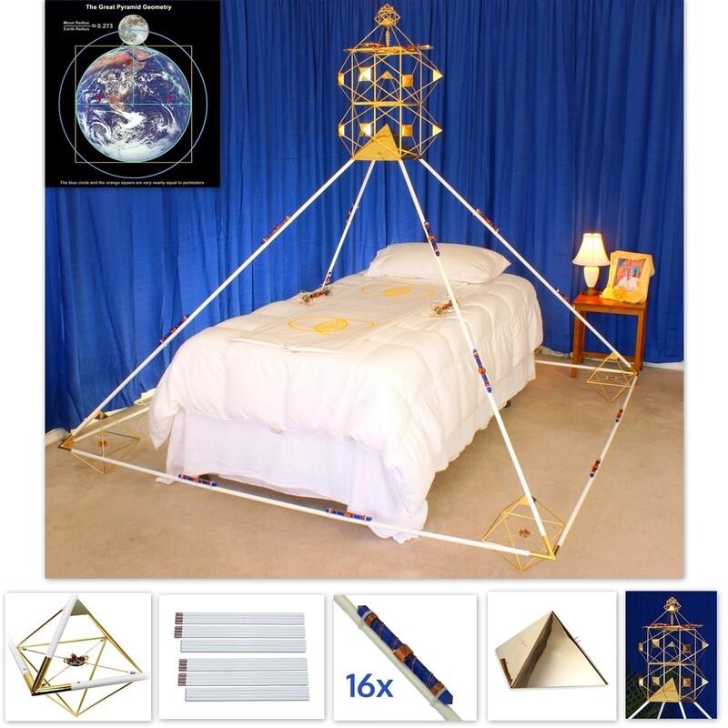 7ft Buddha Maitreya the Christ Ascension Meditation Pyramid System with Solar Form Octahedrons
