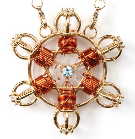Buddha Maitreya the Christ 24k Gold-plated Shambhala Star Radiator with Copper wire