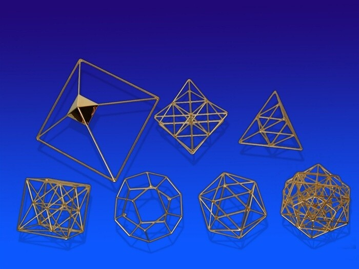 Set of Metatronic Solids - Small