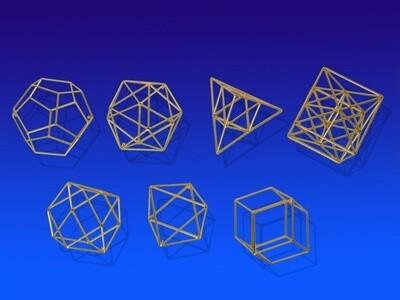 Set of Pythagorean Solids - Small