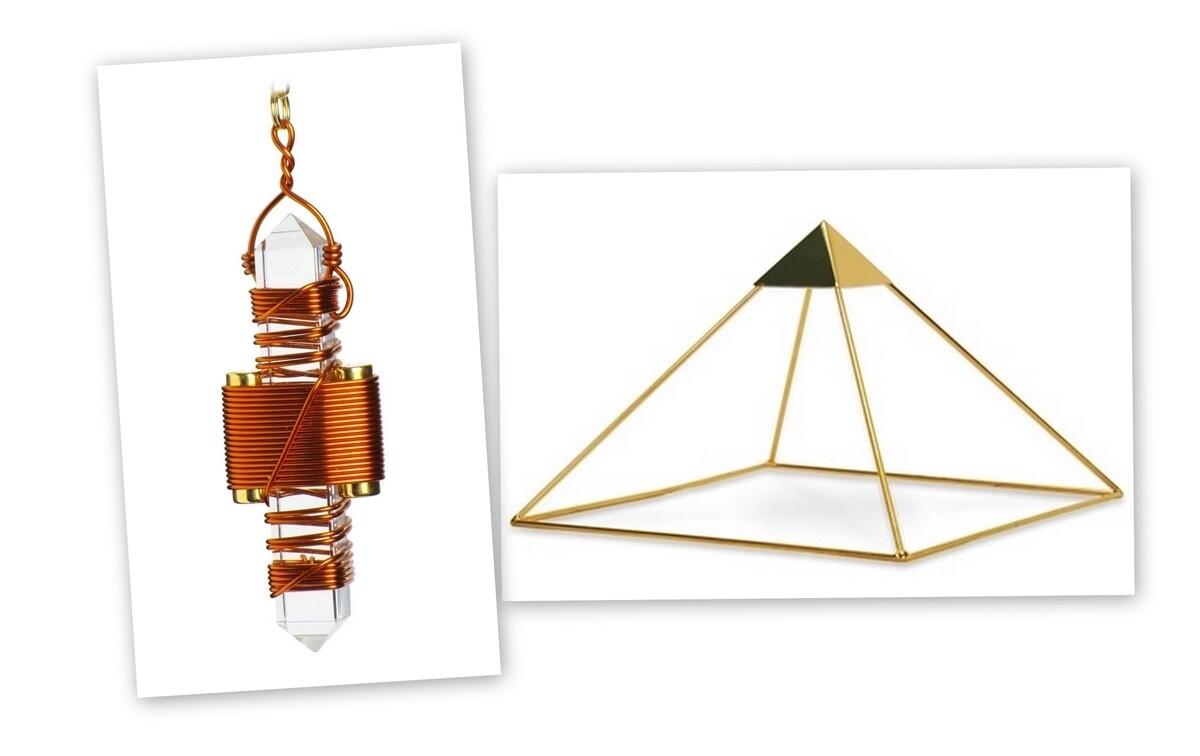 "Buddha Maitreya the Christ Meditator Set - Basic Ascension Head Pyramid with 2.5"" Etheric Weaver"
