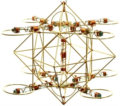 Buddha Maitreya the Christ - Large Maitreya Solar Cross with 2 Shambhala Stars