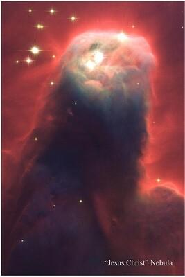 Jesus Christ Nebula - Poster Print