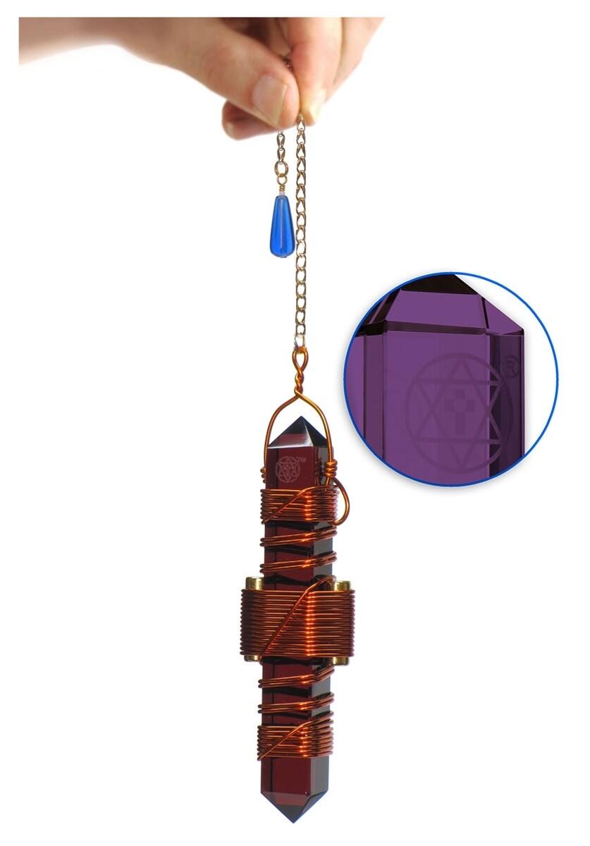 """Buddha Maitreya the Christ 3.5"""" Etheric Weaver in Copper - Violet Siberian Quartz"""