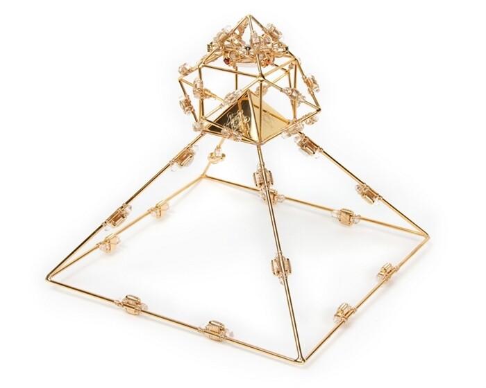 Buddha Maitreya the Christ Shambhala 7 Ray Solar Ascension Crystal Head Pyramid
