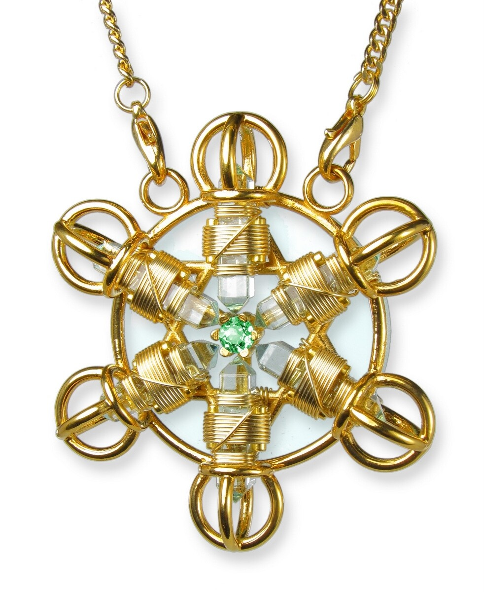 Buddha Maitreya the Christ 24K Gold-plated Shambhala Star with 12K Gold-fill wire