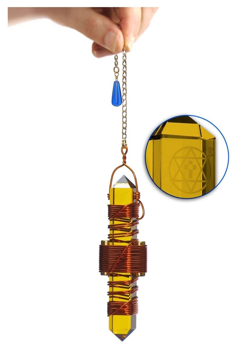"Buddha Maitreya the Christ 3.5"" Etheric Weaver in Copper - Gold Siberian Quartz"