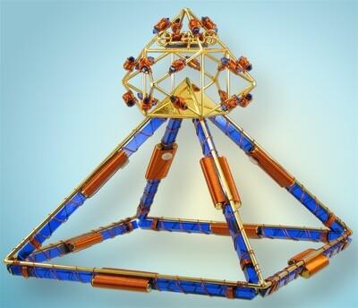 Buddha Maitreya the Christ Shambhala Full Crystal Head Pyramid