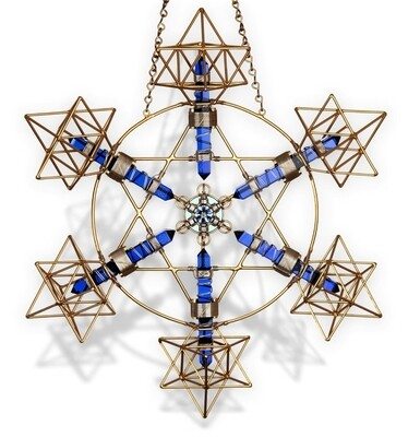 Buddha Maitreya the Christ Large Earth Shambhala Star-blue
