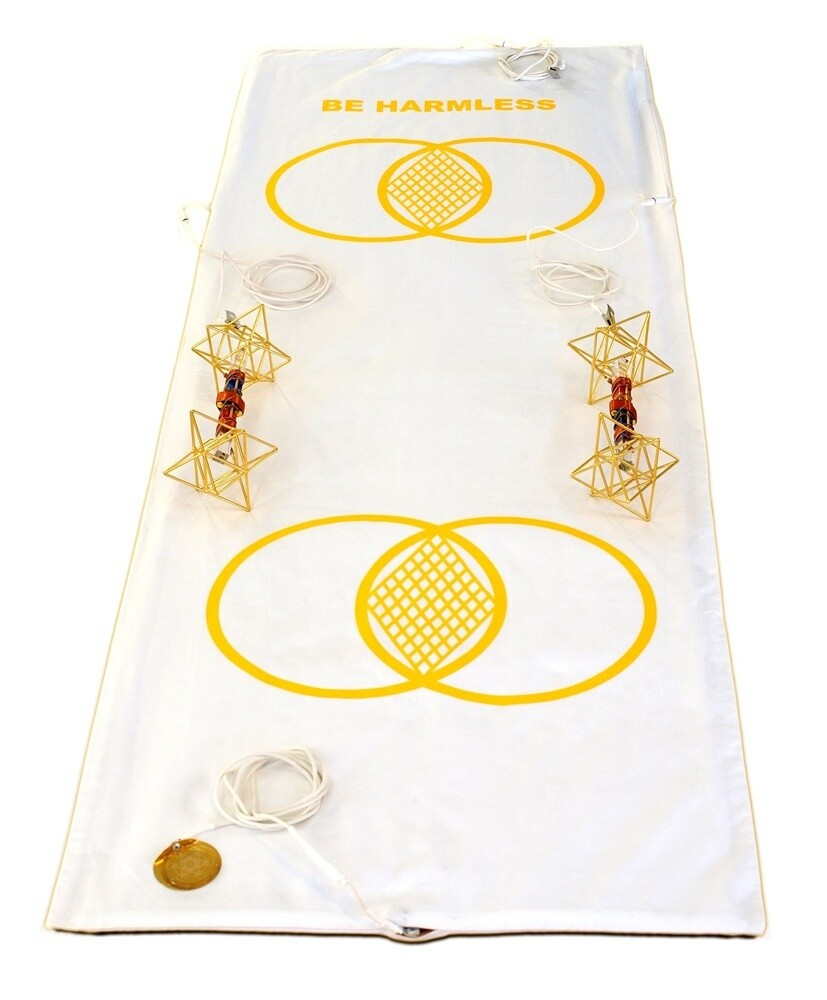 Buddha Maitreya the Christ Metatron Mat System with Earth Vajras - full-length