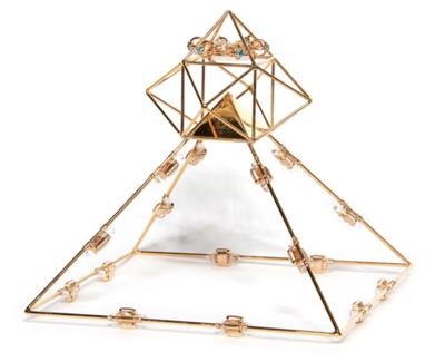 Buddha Maitreya the Christ Shambhala Solar Ascension Crystal Head Pyramid with 16 Etheric Weavers