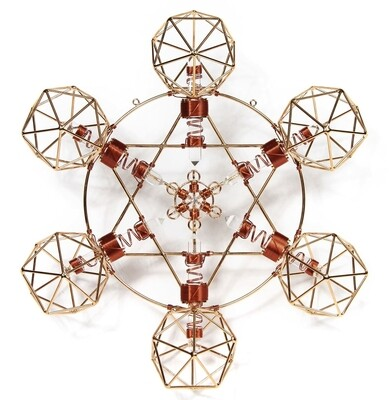 Buddha Maitreya the Christ Large Metatron Shambhala Star - Copper