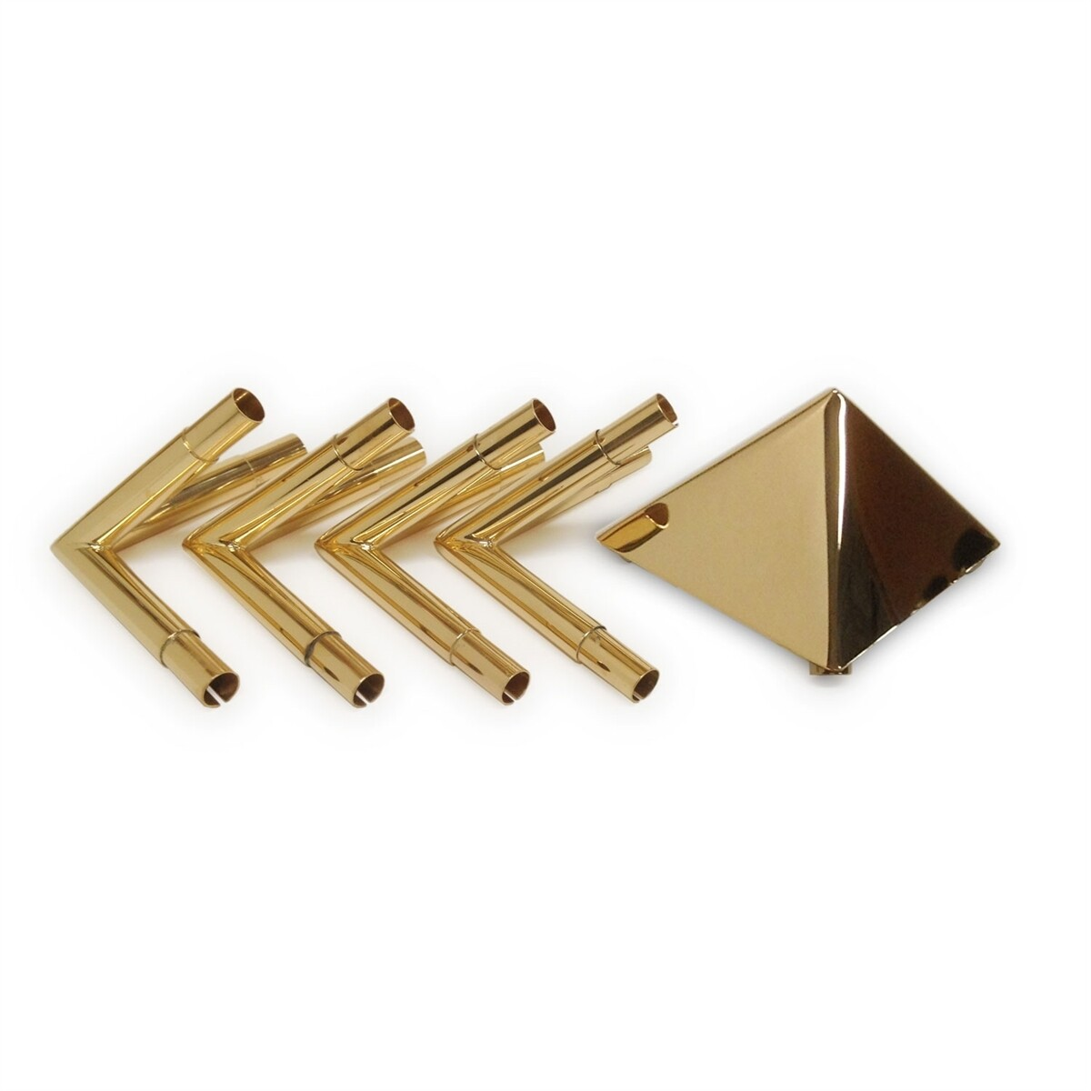Meditation Pyramid Connectors - 24K Gold-plated
