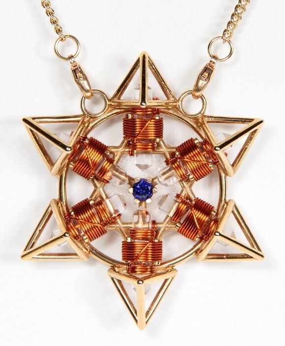 Buddha Maitreya the Christ 24K Gold-plated Shambhala Star Tetra with Copper wire